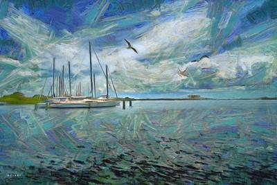 Bayside Painting - Waterfront View  by L Wright