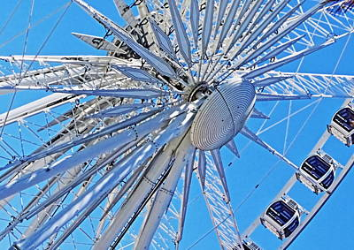 Photograph - Waterfront Wheel by Aidan Moran