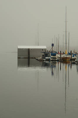 Photograph - Marina Boathouse by Marilyn Wilson