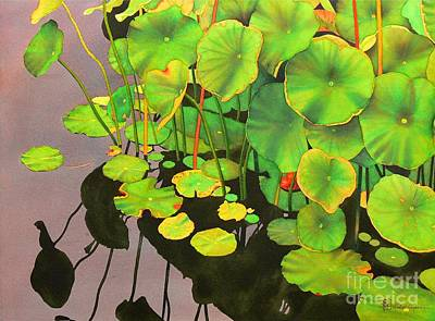 Painting - Watergarden by Robert Hooper
