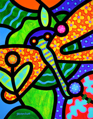 Pop Art Royalty-Free and Rights-Managed Images - Watergarden by Steven Scott