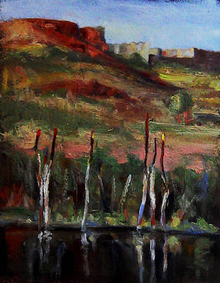 Small Painting - Waterhole by Michael Britton