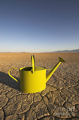 Dry Lake Photograph - Watering Can & Dry Lake by GIPhotoStock