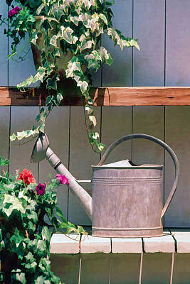Old Barn Painting - Watering Can by Cliff Wassmann
