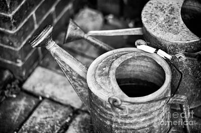 Photograph - Watering Can Mono by John Rizzuto