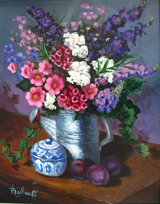 Painting - Watering Can by Pat Heydlauff