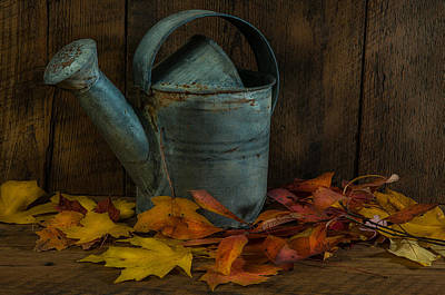 Fall Photograph - Watering Can by Randy Walton