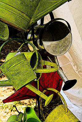Photograph - Watering Cans by Jonah Gibson
