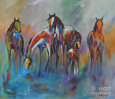 Watering Hole 2 Art Print