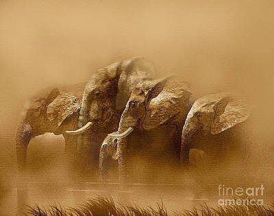 Thirst Painting - Watering Hole by Robert Foster