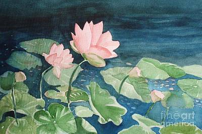 Painting - Waterlilies 2 by Marilyn Jacobson