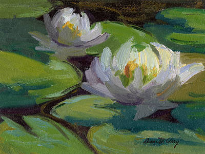Painting - Waterlilies At Martha Lake 1 by Diane McClary