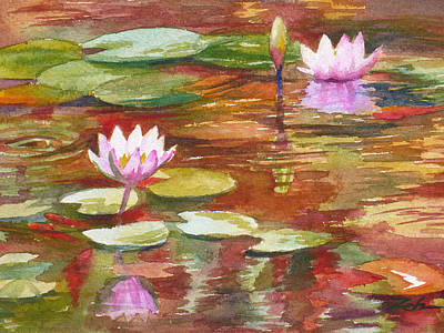 Painting - Waterlilies by Janet Zeh