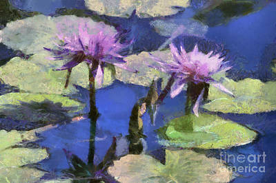 Waterlilies Art Print by Teresa Zieba