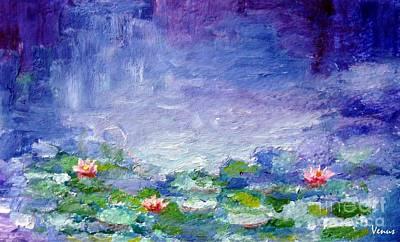 Modernism Mixed Media - Waterlilies by Venus