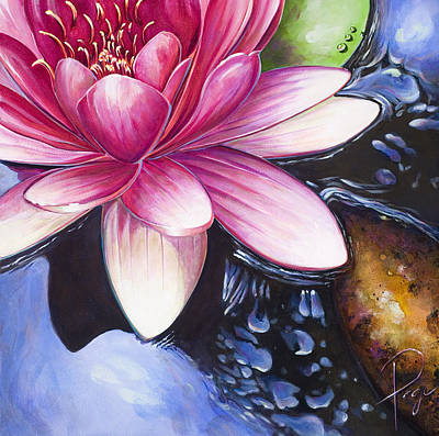 Painting - Waterlily by Donna Page