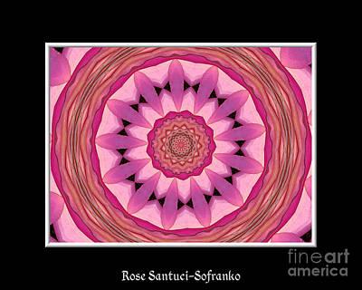 Waterlily Flower Kaleidoscope 3 Art Print by Rose Santuci-Sofranko