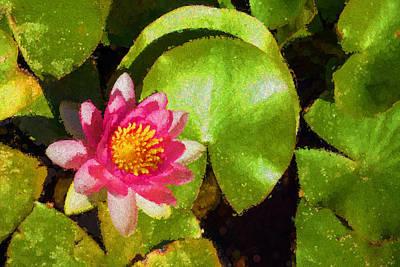 Digital Art - Waterlily - Happy Pink Impression by Georgia Mizuleva