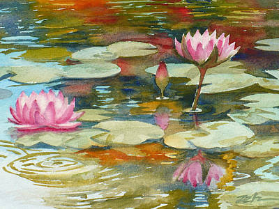 Painting - Waterlily Pond by Janet Zeh
