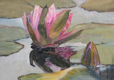 Painting - Waterlily Reflections by Lori Quarton