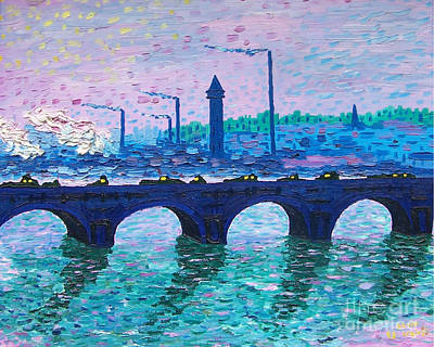 Painting - Waterloo Bridge Homage To Monet by Kevin Croitz