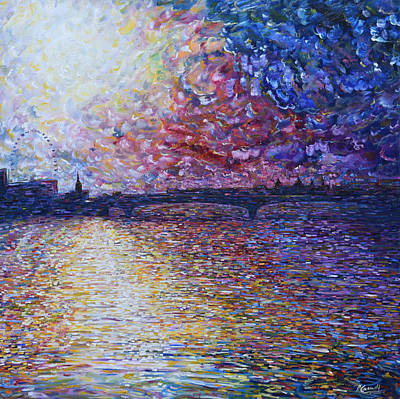 Painting - Waterloo Bridge River Thames by Pete Caswell