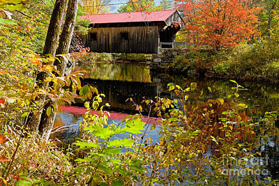 Photograph - Waterloo Covered Bridge 2014 by Butch Lombardi