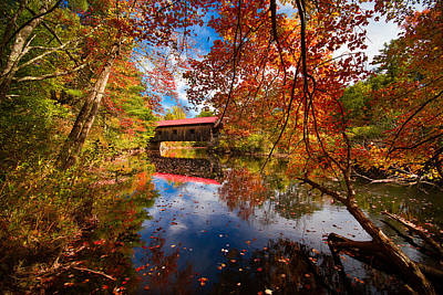 Photograph - Waterloo Covered Bridge by Robert Clifford