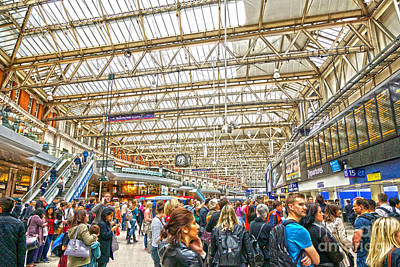Digital Art - Waterloo Station by Andrew Middleton