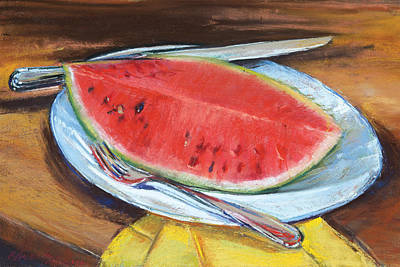 Pastel - Watermelon by Beverly Amundson