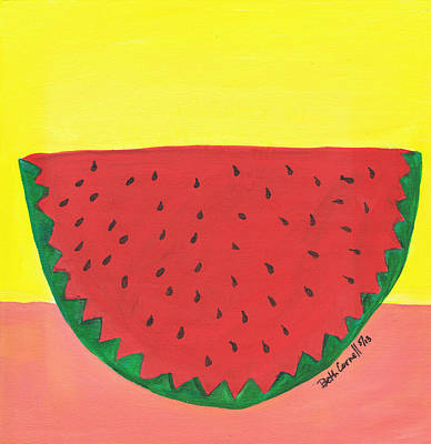 Painting - Watermelon 1 by Beth  Cornell