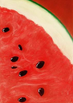 Drawing Painting - Watermelon by Anastasiya Malakhova