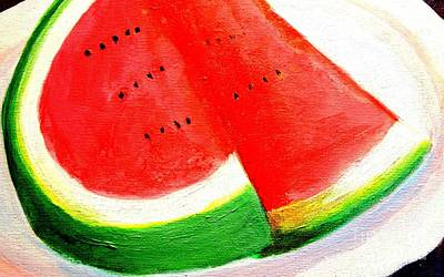 Watermelon Mixed Media - Watermelon By Doreen Kirk by Doreen Kirk