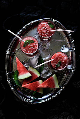 Photograph - Watermelon, Gin And Mint Cocktail by Mónica Pinto Photography