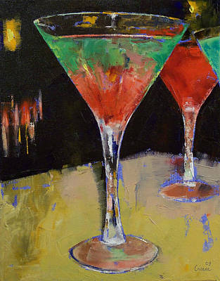 Cocktails Painting - Watermelon Martini by Michael Creese