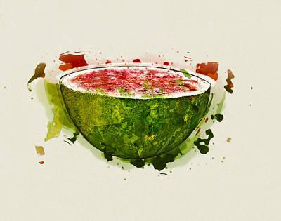 Watermelon Mixed Media - Watermelon by Stockr