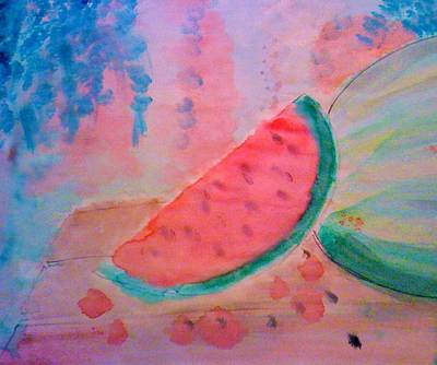 Watermelon Drawing - Watermelon by Ty Walsh Trez