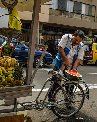 Photograph - Watermelon Vendor by Allen Sheffield