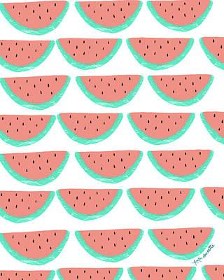 Watermelon Wallpaper Art Print