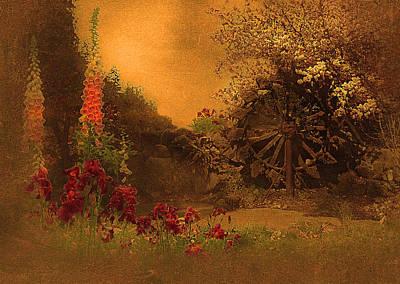 Foxglove Flowers Photograph - Watermill by Jeff Burgess