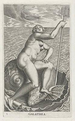 Waternimf Galatea, Philips Galle Art Print