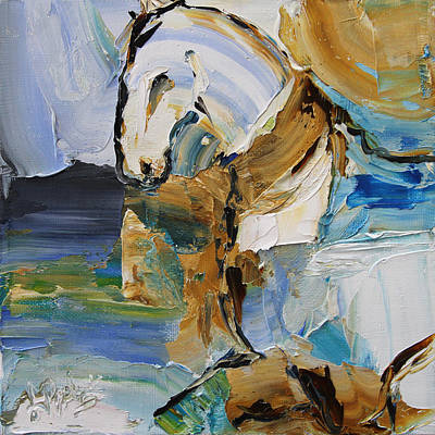 Painting - Waterplay Horse 9 2014 by Laurie Pace