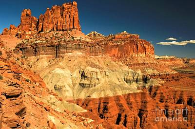 Photograph - Waterpocket At Capitol Reef by Adam Jewell