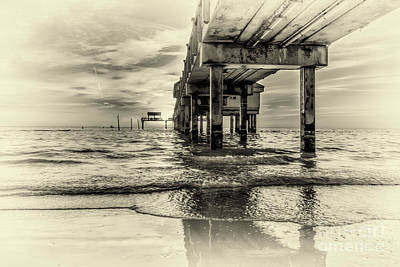 Black And White Surf Photograph - Waters Edge by Marvin Spates