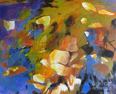 Nature Abstract Painting - Water's Edge by Melody Cleary
