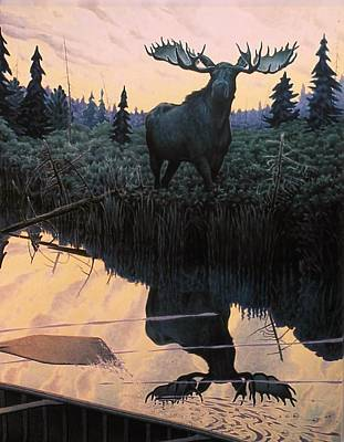 Northwoods Painting - Waters Edge by Mike DeWitt