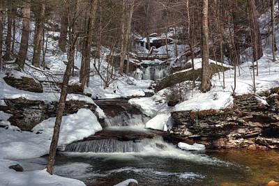 Photograph - Waters Meet In Winter  by Gene Walls