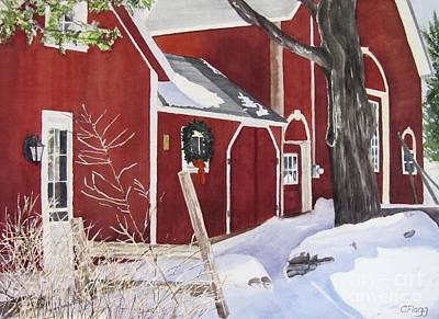 Painting - Waters Rd Red Barn by Carol Flagg