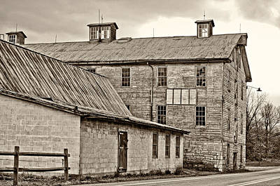 Waterside Woolen Mill Art Print by Steve Harrington