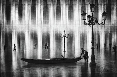 Street Lamps Photograph - Watertaxi by Roswitha Schleicher-schwarz